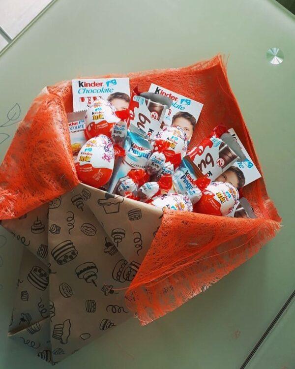 Заказать сладкий букет из киндеров для любимых малышей на день рождения. Доставка по Екатеринбургуhttps://www.ekbbuket.ru/
