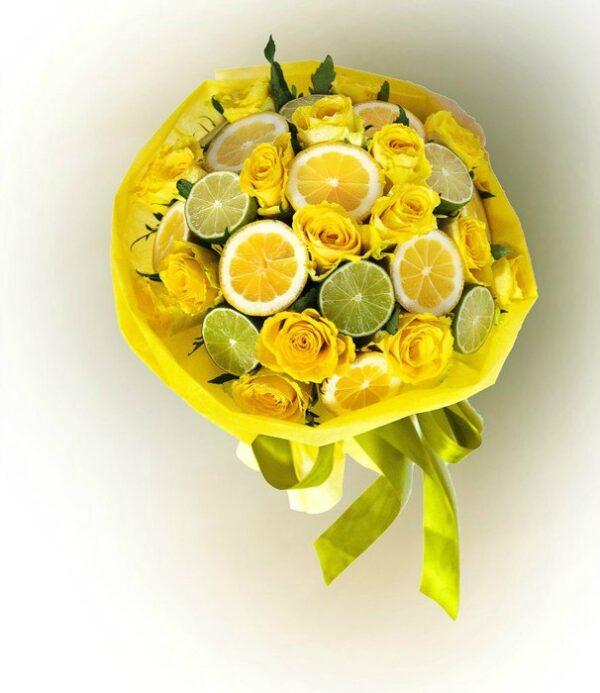 Фруктовый букет из фруктов из лимона и Лайма заказать в Екатеринбурге с доставкой