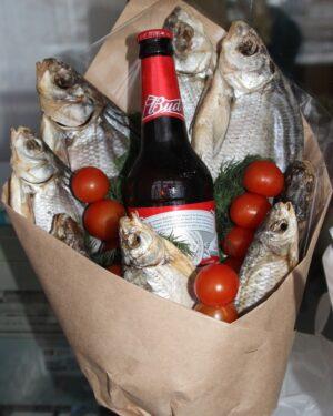Вкусный Букет для ценителей пива с рыбкой