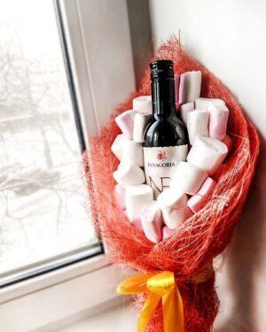 Букет с вином