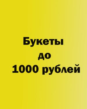 Букеты до 1000 рублей